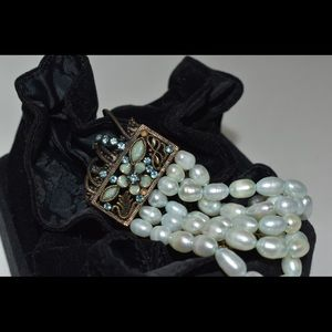 Pearl Vintage bracelet with beads